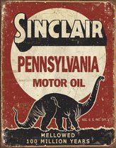 Signs-USA Sinclair - Million Years - Retro Wandbord - Metaal - 40x30 cm