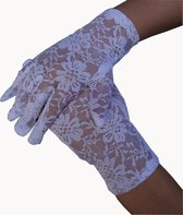 Jessidress Meisjes Handschoenen met kant - Wit