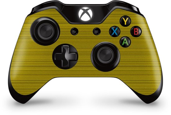 Xbox One Controller Skin Brushed Geel Sticker
