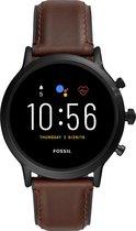 Fossil Carlyle Gen 5  FTW4026 - Smartwatch - Zwart/bruin