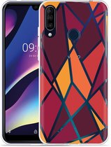 Wiko View 3 Hoesje Colorful Triangles