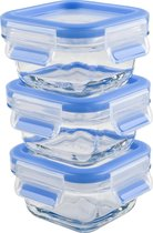 Tefal MasterSeal Glass Baby Set Vershoudbakjes - 3 x 0,2 L - Blauw