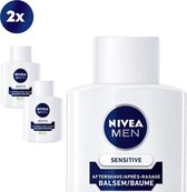 NIVEA MEN Sensitive - 2 x 100 ml - voordeelverpakking - Aftershavebalsem