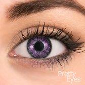 Pretty Eyes Kleurlenzen - paars - 8 stuks - daglenzen