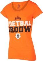 KNVB - Nederlands Elftal - Leeuwinnen T-shirt Dames Voetbal Vrouwen Blanco-M