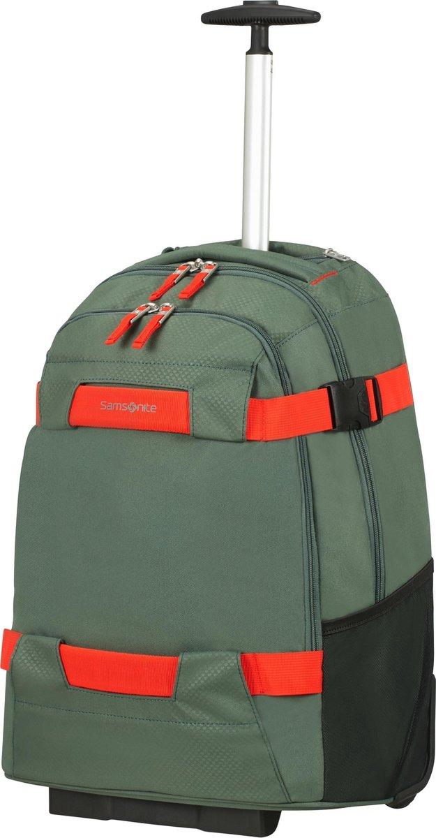 Samsonite Rugzaktrolley Met Laptopvak - Sonora Laptop Backpack/Wheels 55/20 (Handbagage) Thyme Green