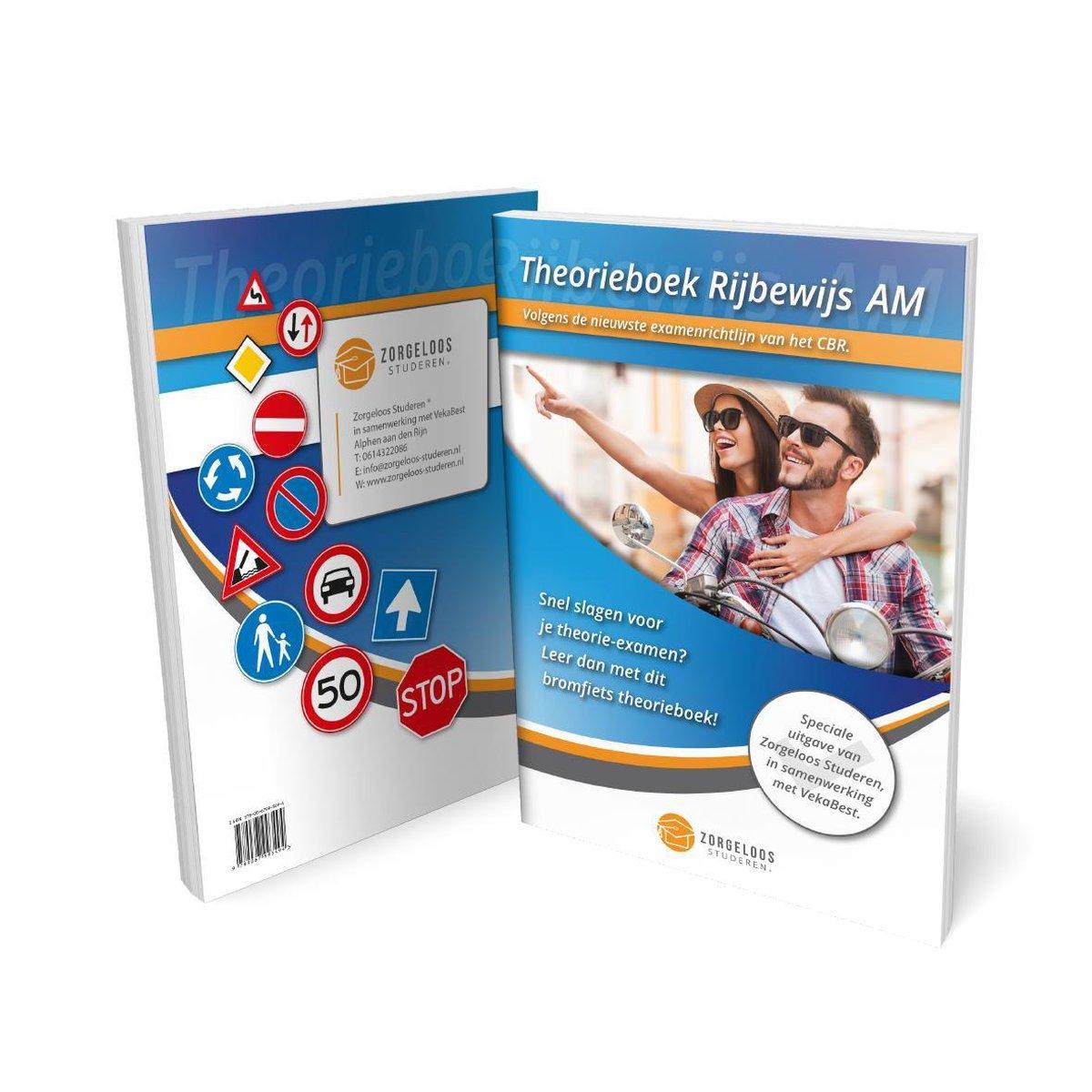 ScooterTheorie Boek 2021 - ScooterTheorieboek - Bromfiets Theorieboek Rijbewijs AM Nederland