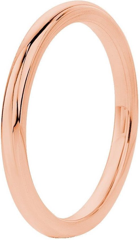 Lucardi Stalen Rose Plated Ring - Maat 63