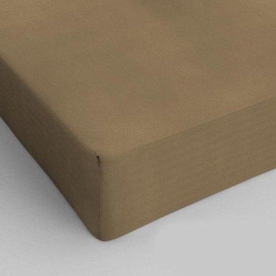 Hoeslaken 80x200 100% Percal Katoen Taupe 40cm hoekhoogte. Exclusieve Kwaliteit!