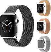 Milanese Loop Armband Voor Apple Watch Series 1/2/3/4/5 42/44 MM Iwatch Milanees Horloge Band - Zwart