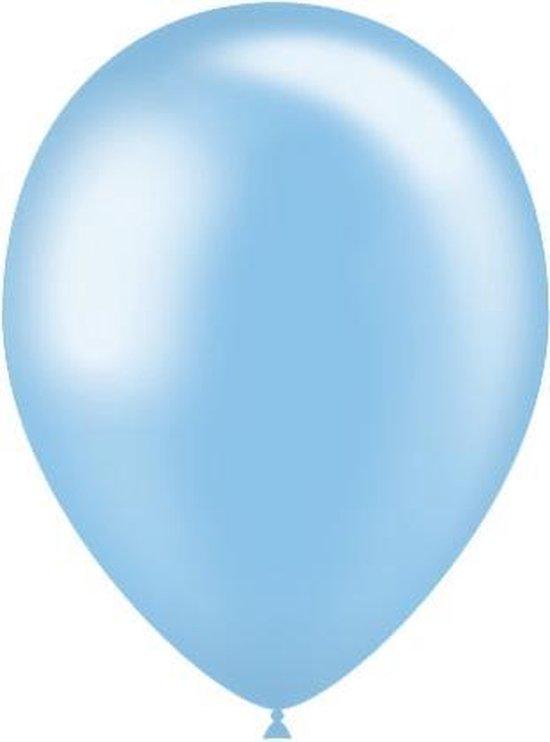 Lichtblauwe Ballonnen Metallic 25cm 50st
