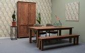 Eetkamertafel + Koplat 240x100 cm
