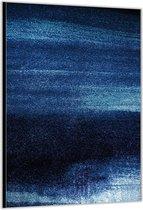 Dibond –Blauwe Stippen – 80x120cm Foto op Aluminium (Wanddecoratie van metaal)