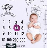 Mijlpaaldeken ballonnen incl. frames - Milestone - fotoherinnering - kraamcadeau - babyshower cadeau - foto mijlpaal deken