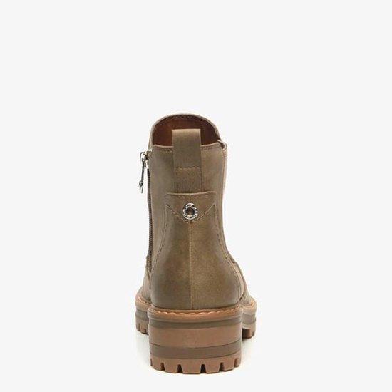 | Love our planet vegan dames chelsea boots Groen