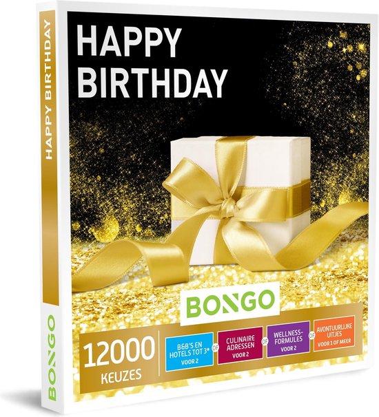 Bongo Bon - Happy Birthday Cadeaubon - Cadeaukaart cadeau voor man of vrouw | 12000 belevenissen: culinair, wellness, overnachting, sportief en meer