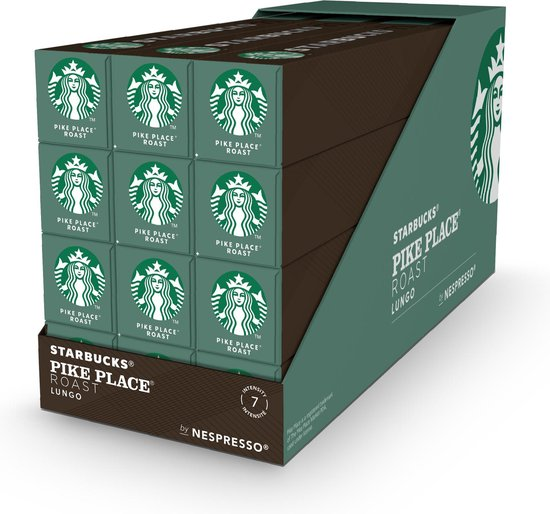 Starbucks® Pike Place® Roast by Nespresso® Medium Roast - 12 x 10 koffie capsules