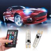 Led verlichting Auto Koplamp | RGB LED 12V |  T10 LED | RGB 5050 | Met afstandsbediening