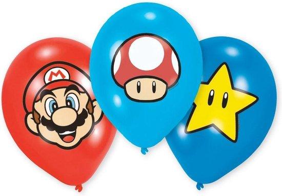 AMSCAN - 6 Super Mario latex ballonnen - Decoratie > Ballonnen