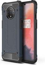 OnePlus 7T Hoesje - Armor Hybrid - Donkerblauw