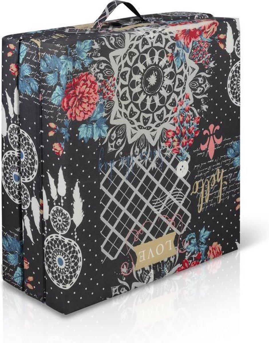 Bed4less Inklapbaar vouwmatras  - opvouwbare matras 65x190cm 'Hello love' - Bed4less