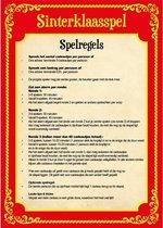 Sinterklaas spel gele dobbelsteen en 3x inpakpapier rollen - Pakjesavond Sinterklaasspel dobbelstenen en cadeaupapier set