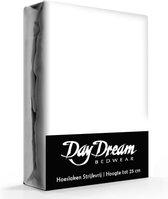 Day Dream - Hoeslaken - Katoen - 90 x 200 cm - Wit