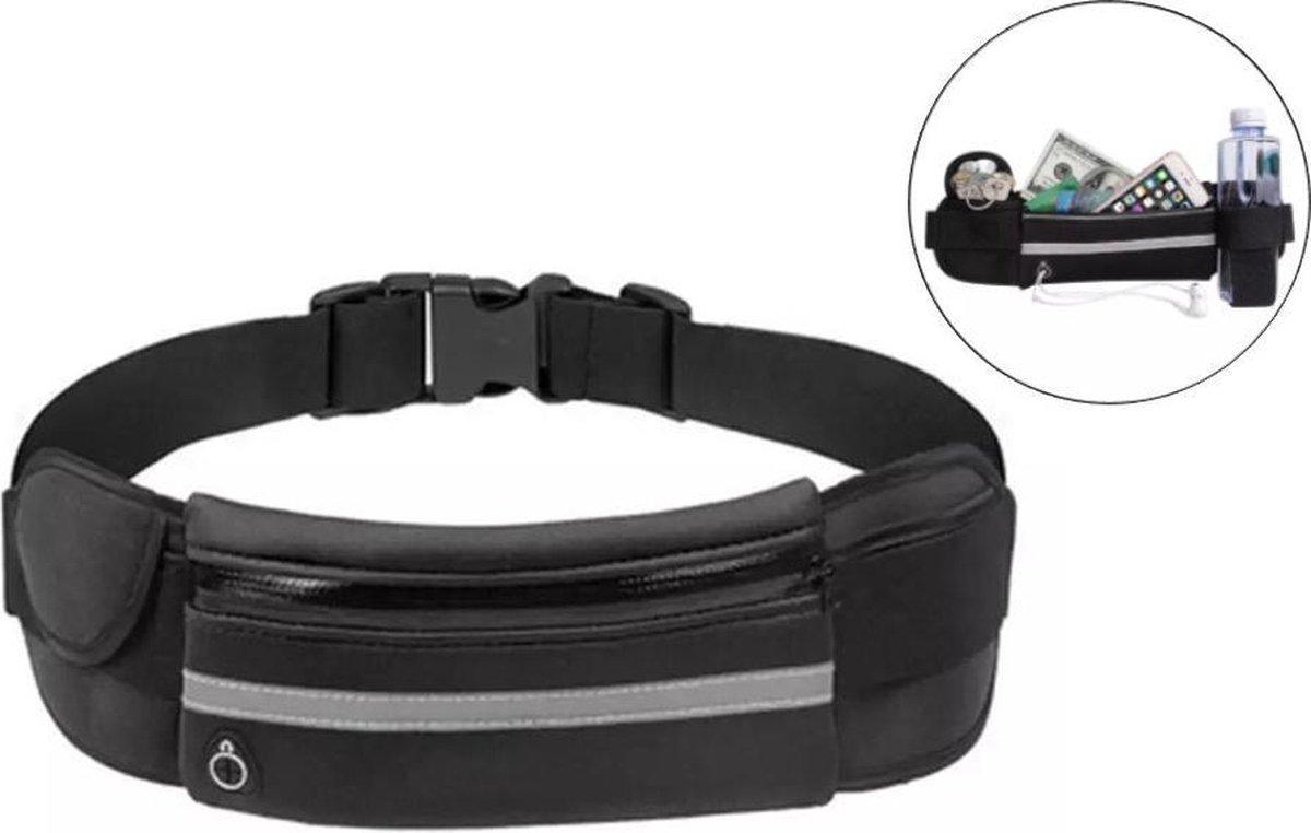 Emmy's Store heuptasje sport – running belt – hardloop heuptas - verstelbare buideltas - zwart