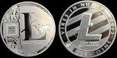 LITECOIN LTC munt | Met Plastic Doosje | Zilver