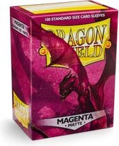 Dragon Shield Card Sleeves: Standard Matte Magenta (63x88mm) - 100 stuks