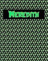 120 Page Handwriting Practice Book with Green Alien Cover Meredith