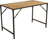 Raw Materials Elements Eettafel - Inklapbaar - 120x65cm - Hout - Metaal