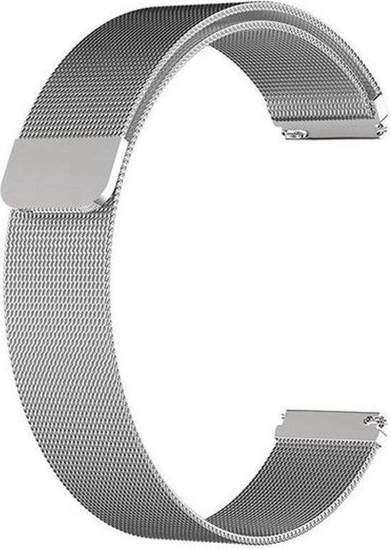 KELERINO. Milanees bandje voor Fitbit Versa (Lite) Magneetsluiting - Zilver