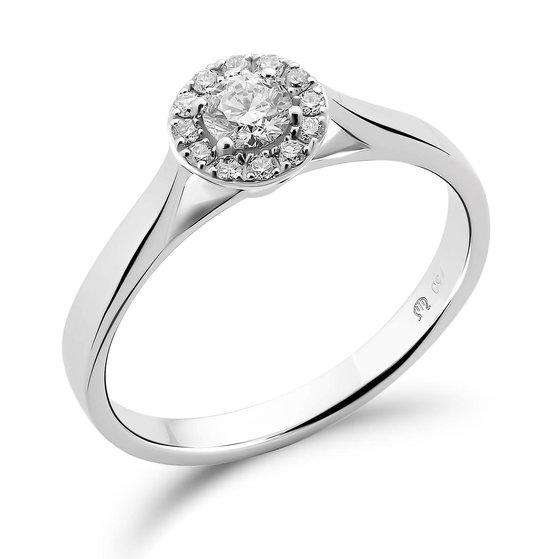 Orphelia RD-3921/20/50 - Ring - 18 Karaat Witgoud / Diamant 0.30 crt - Maat 50