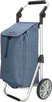 Boodschappentrolley Inklapbaar met Koeltas + Kantelbaar Handvat, Jeans