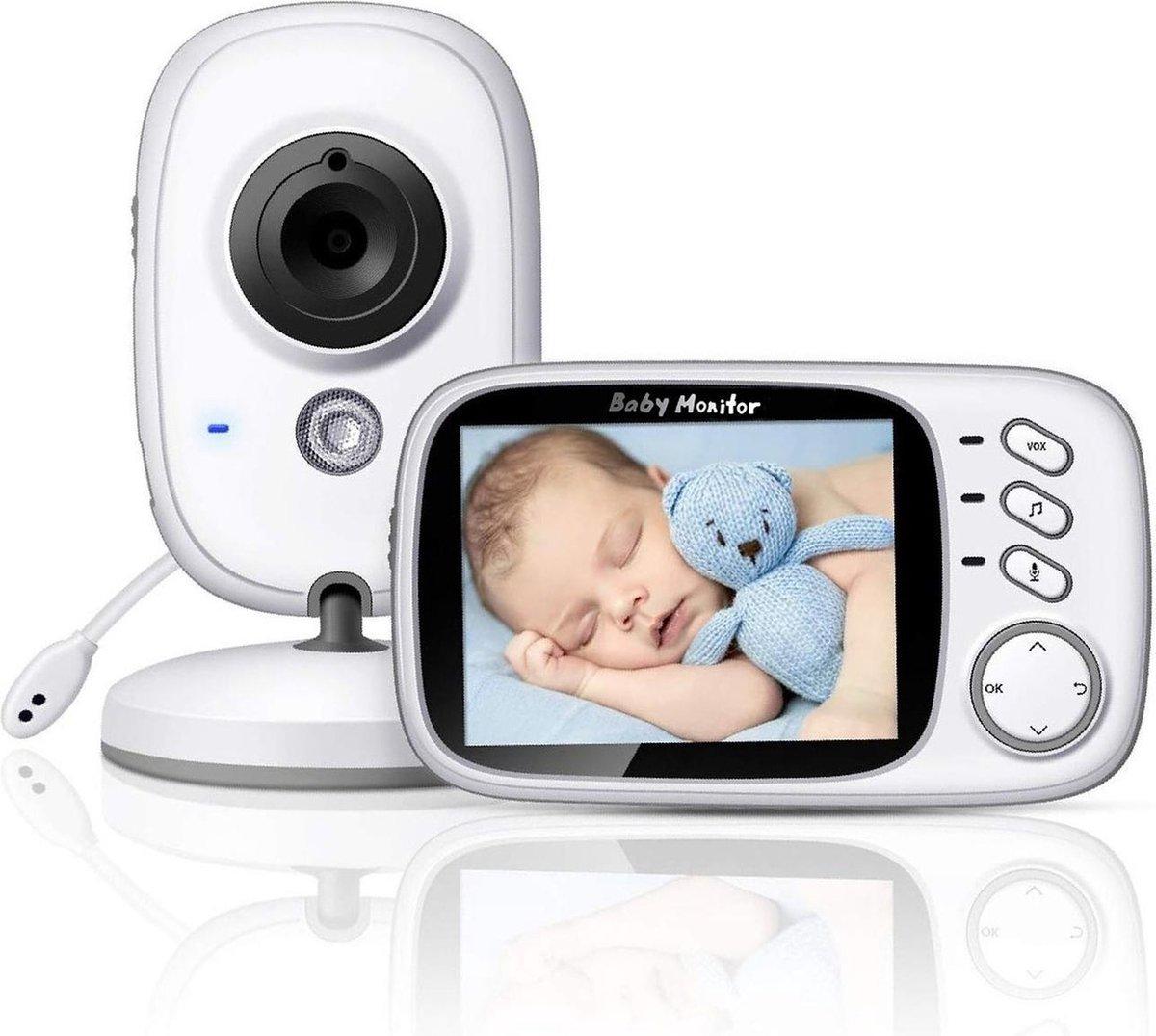 Babyfoon met camera | 3.2 inch scherm | Terugspreken | Temperatuur | Slaapliedjes | Nachtzicht