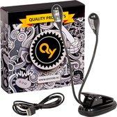 QY Duo Boekleeslamp met klem - 4 heldere LED lampjes - voor muziekstandaard, lessenaar, boek enz.