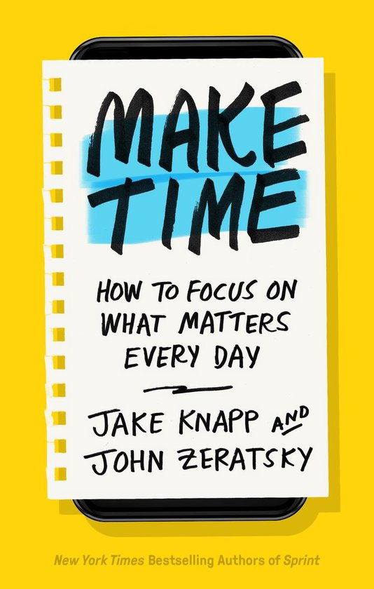 Boek cover Make Time van Jake Knapp (Paperback)