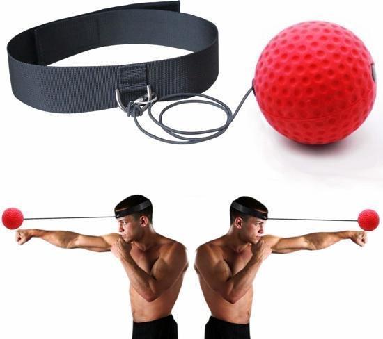 Box Reflex Bal / Hoofd Reflexbal / Hoofdband / Workout / Mini Punch Home Trainer Boks Kickboks / Rood Zwart