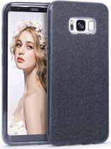 Samsung Galaxy S8 Plus Hoesje - Glitter Backcover - Zwart