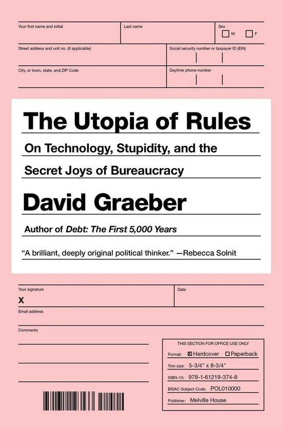Boek cover The Utopia Of Rules van David Graeber (Paperback)