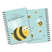 Heen en weer boekje - baby - peuter - ringband - oppasboekje - kinderopvang - creche -gastouder - invulboek