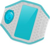 Yurbuds iPhone 5s / 5 Ergosport LED Armband - Grijs / Aqua Blauw