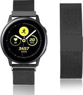 Milanese Loop Armband Voor Samsung Galaxy Watch Active / 42 MM Band Strap - Milanees Armband Polsband - Zwart