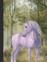 Unicorn Magical Forest Composition Notebook, 4x4 Quad Rule Graph Paper