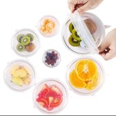 Siliconen deksel - Wit - 6 stuks - 6 verschillende maten