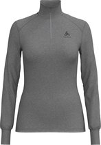 Odlo Shirt L/S Turtle Neck 1/2 Zip Active Originals Warm Thermoshirt Dames - Grey Melange