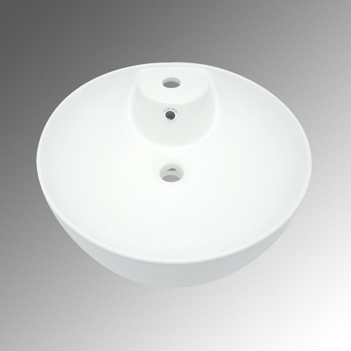 Brogali Design Model Torra Waskom Mat Wit 415-415-135 cm