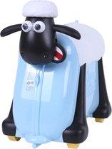 Shaun het schaap kinderkoffer blauw