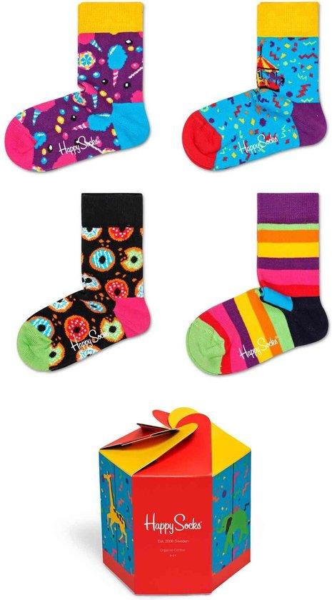 Happy Socks – Uni – 3-Pack Carousel Gift Box Sokken – Multicolor – 2-3 JAAR
